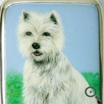 Silver box personalised with a terrier