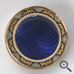 blue enamel vesta box repair